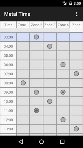 Metal Time メタルゾーン時間割