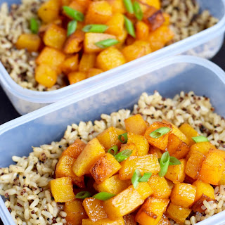 Roasted Butternut Squash with Quinoa and Brown Rice