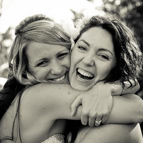 Happiness. by Greg Rowe - People Portraits of Women ( wedding, happy, smile, bride,  )