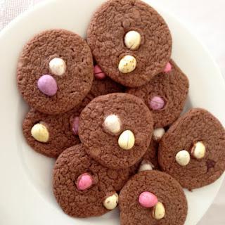 Easter Chocolate Brownie Biscuits (cookies).