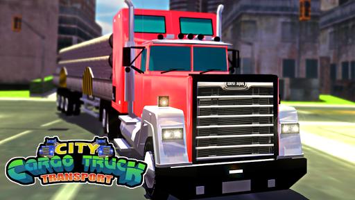 市貨運卡車運輸3D