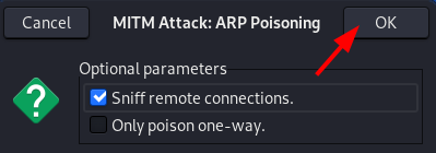 Ettercap Arp poisoning attack [Part 2] - Sniff remote connections. Source: nudesystems.com