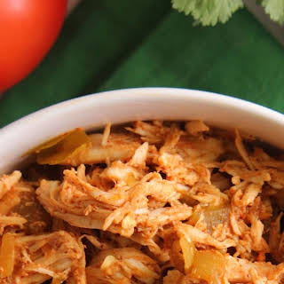 4-Ingredient Slow Cooker Mexican Shredded Chicken.