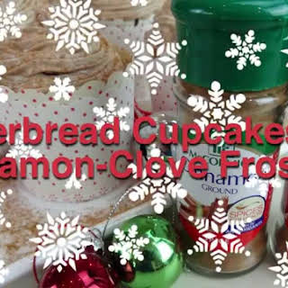 Gingerbread Cupcakes with Cinnamon-Clove Frosting.