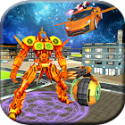 Futuristic Flying Robot Car Superhero Robot War icon