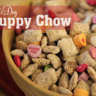 Puppy Chow Recipe, Valentine's Day Style