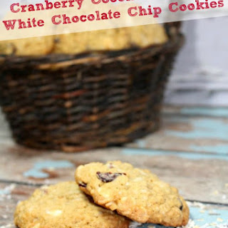 Cranberry Coconut Oatmeal White Chocolate Chip Cookies