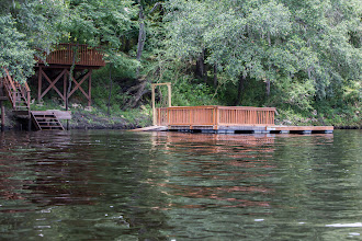 Photo: a floating dock with a small issue