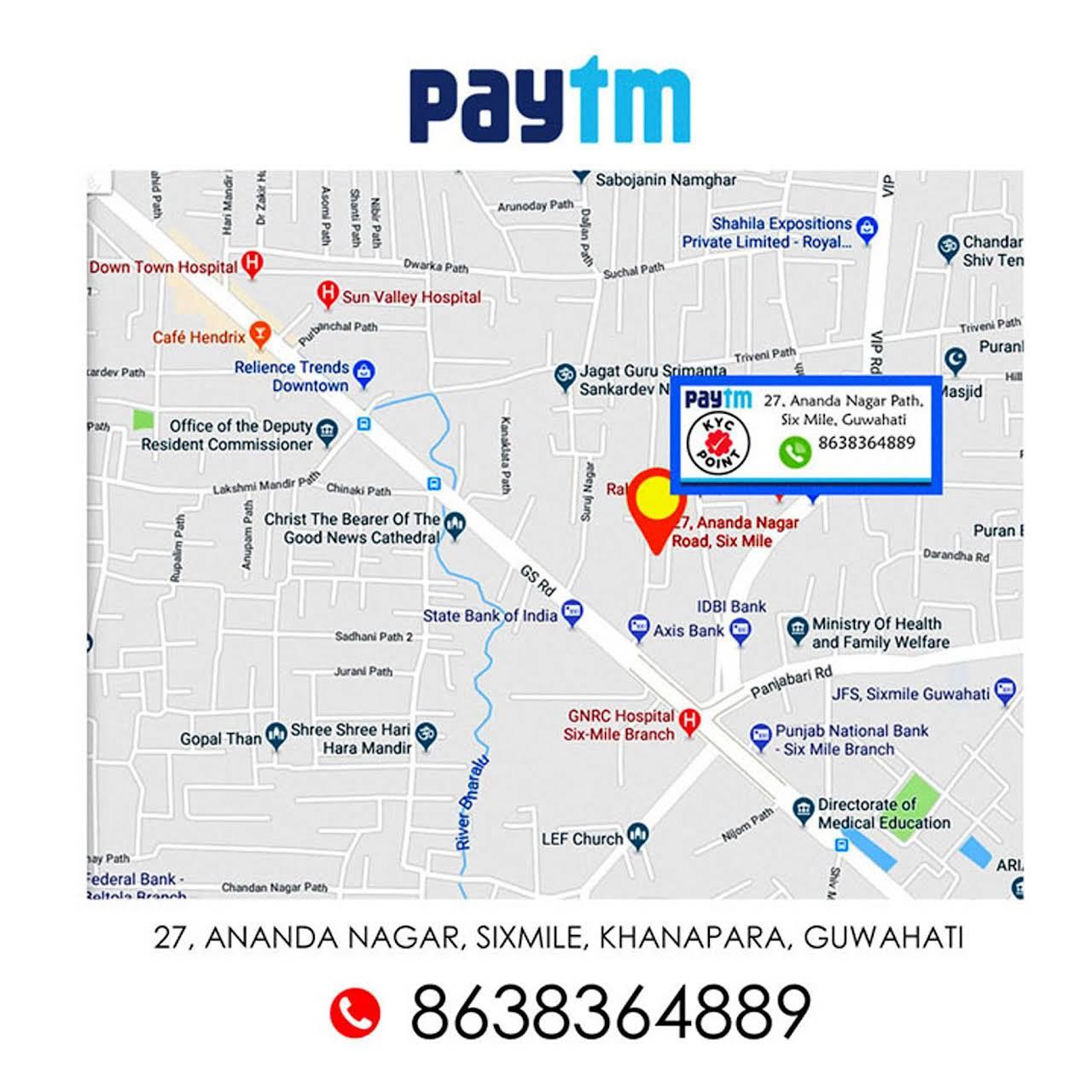 Paytm KYC Point Guwahati - Business Center in Six Mile, Guwahati