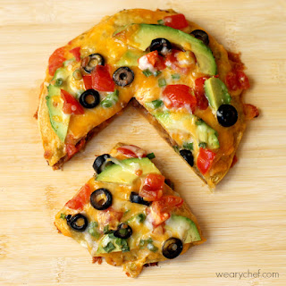 Loaded Mexican Pizza.