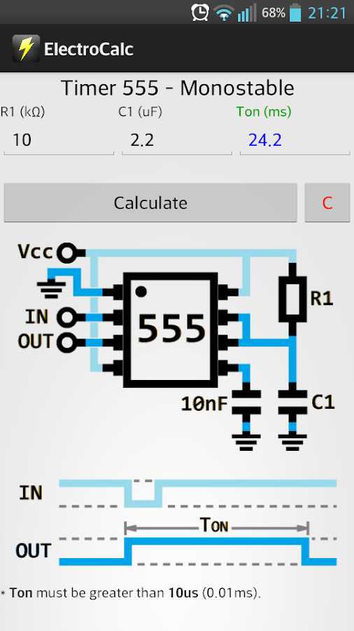 ElectroCalc FREE- screenshot