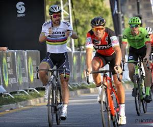 Greg Van Avermaet reageert na cynisch applausje van Peter Sagan aan adres van olympische kampioen