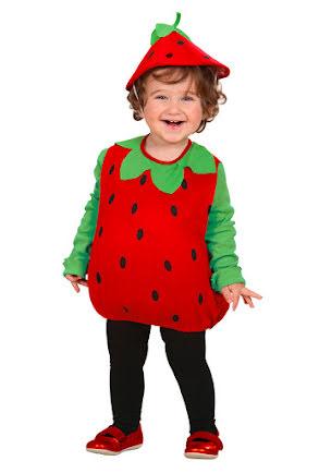 Barndräkt jordgubbe, 90/104 cl