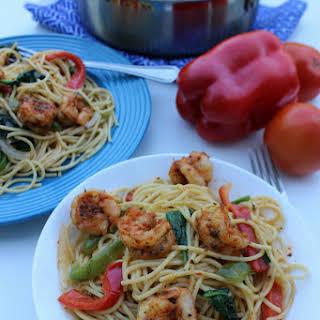 Easy Cajun Shrimp Pasta.