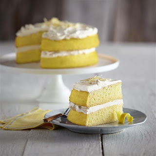 Lemony White Chocolate Cake.
