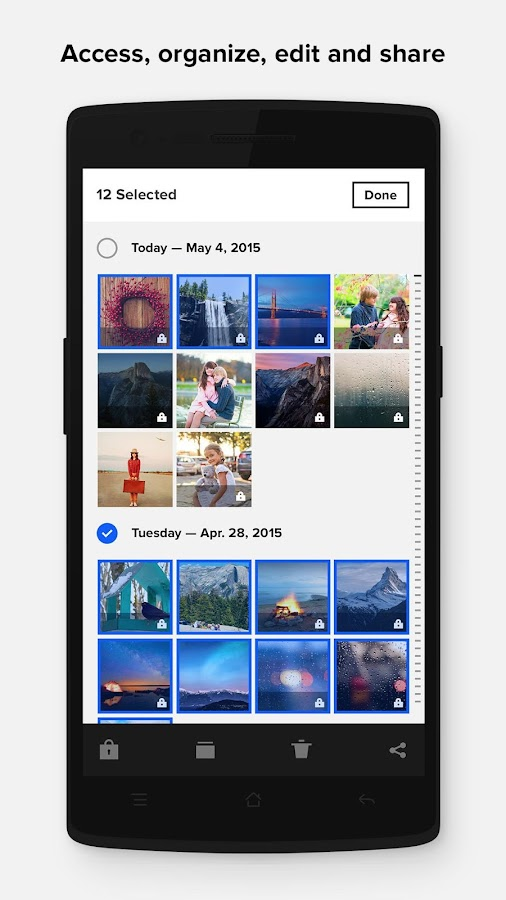 Screenshots of Flickr for iPhone