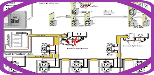 Descargar home electrical wiring diagrams free para PC ... on ac power plugs and sockets, distribution board, knob and tube wiring, three-phase electric power, circuit breaker, ring circuit, light switch, mains electricity by country, electrical system design, power cable, national electrical code, home wiring, circuit diagram, electrical conduit, earthing system, junction box, electrical wiring in north america, ground and neutral,