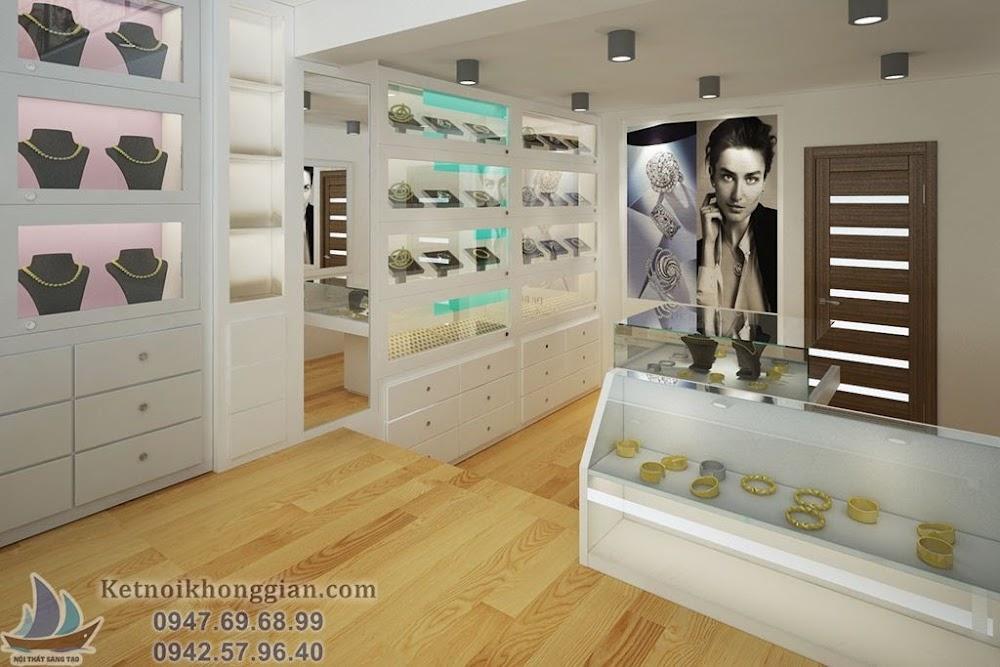 thiết kế cửa hàng trang sức đẹp nhất Hà Nội