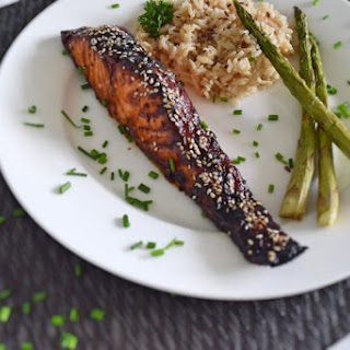 Salmon With Soy Sauce.
