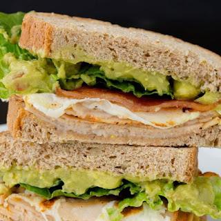 Chicken Guacamole Club Sandwich.