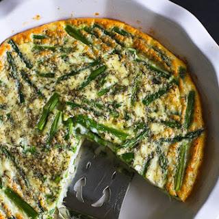 Asparagus & Feta Cheese Crustless Quiche Recipe