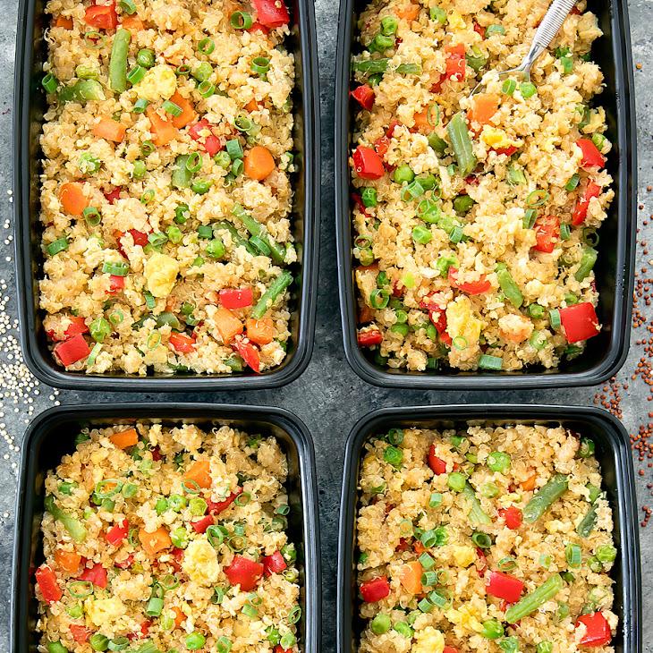 Quinoa Fried Rice Meal Prep Recipe