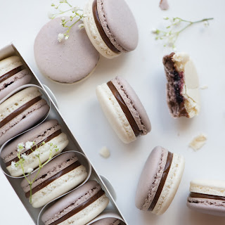 Earl Grey Cassis Macarons.