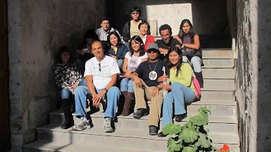 Photo: Grupo en el Tambo de la Cabezona