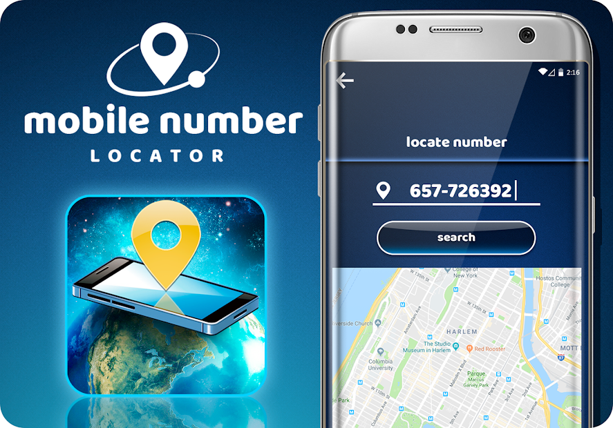 Mobile Number Locator Android App Screenshot