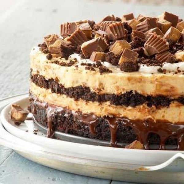 Peanut Butter Buckeye Brownie Cheesecake Recipe