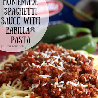 Spicy Homemade Spaghetti Sauce with Barilla® Pasta