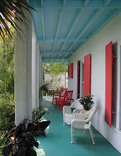 Photo: Porch of the Old Carrabelle Hotel (Carrabelle, Florida Panhandle). Photo with kind permission by Skip and Kathy, owners of the Old Carrabelle Hotel.