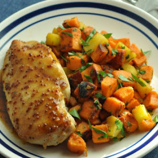 Weight Watchers Orange-Mustard Chicken with Sweet Potato and Apple