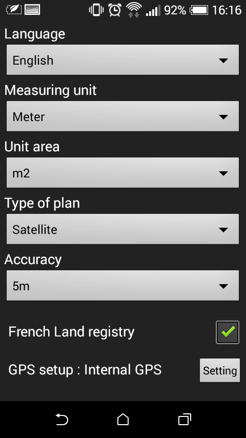 A2 - Area Measurement- screenshot
