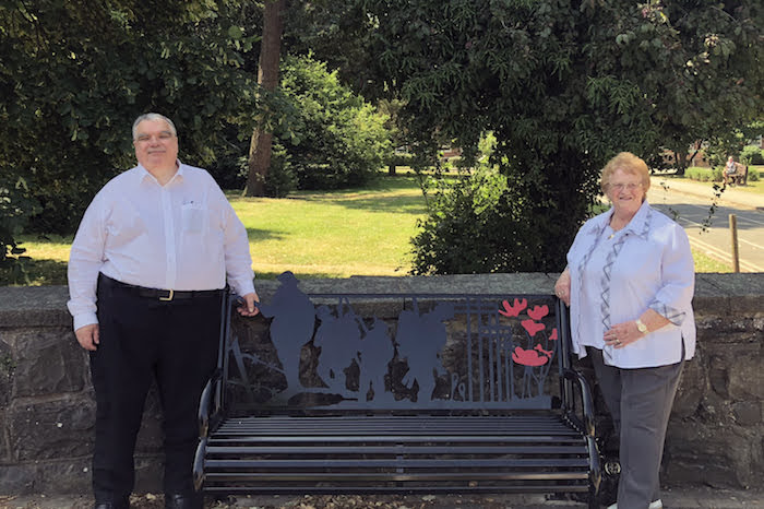 Bench unveiled to commemorate WW1 centenary