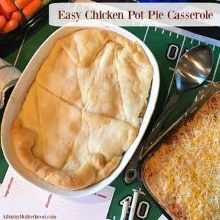 Easy Chicken Pot Pie Casserole.