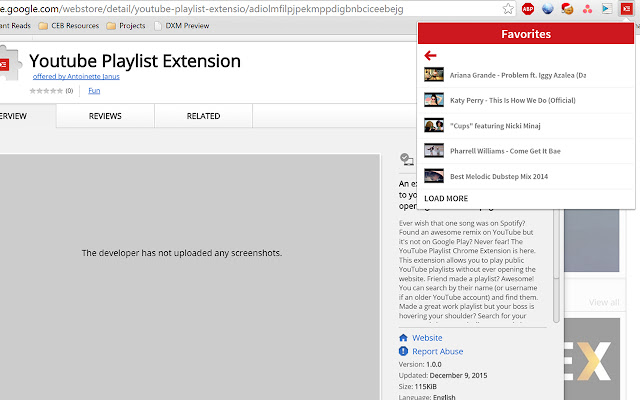 Youtube Playlist Extension