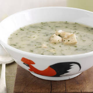 Coconut Chicken Soup with Cilantro and Rice.