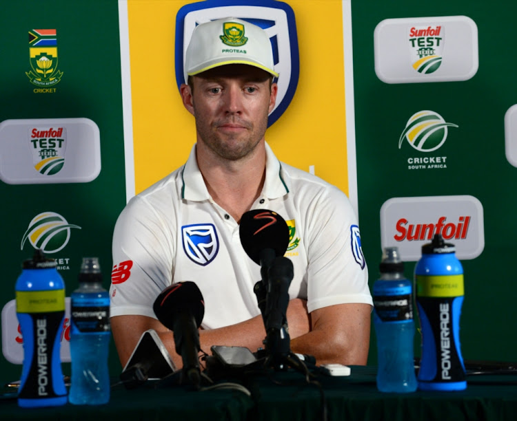 AB de Villiers of the Proteas during day 2 of the 1st Sunfoil Test match between South Africa and Australia at Sahara Stadium Kingsmead on March 02, 2018 in Durban.