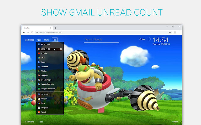 Bowser Jr Wallpaper HD Custom New Tab