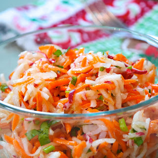 Pickled Daikon Radish and Carrot Salad.
