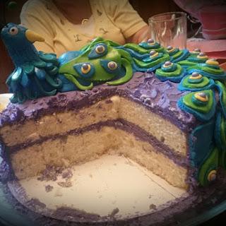 Almond Peacock Cake