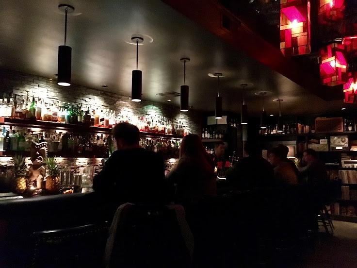 The scene at the bar at Rob Roy.