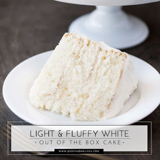 Light & Fluffy White Out of the Box Cake.