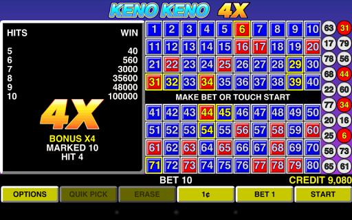 Keno Keno 4X Las Vegas Casino