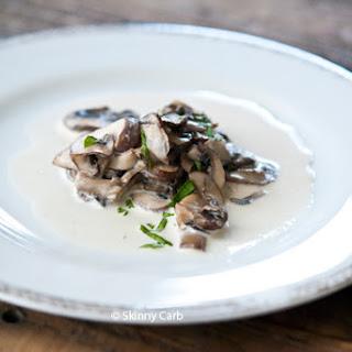 Low Carb Garlic Mushrooms And Cream