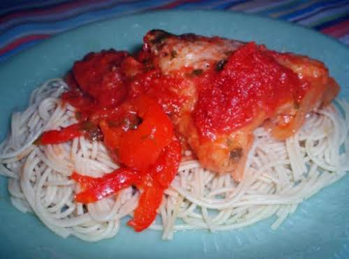 "Recipe Here: Puerto Rican Spaghetti with Chicken ""My mother use to cook..."