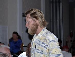 Photo: Bob Bergdahl comes up to speak