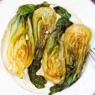 Baby Bok Choy With Sweet and Tangy Sauce.
