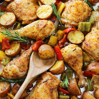 Chicken Potatoes Bell Peppers Recipes.